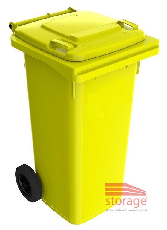 0e38acfb3 Plastová popolnica 120 litrov, žltá | Storage.sk