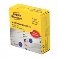 Etikety kruhové 19mm Avery modré v dispenzore - AV003857
