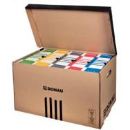 62fc22182 Archívna škatuľa so sklápacím vekom DONAU hnedá - DO766502