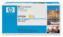 Toner HP C9732A, yellow  5500 - HP973212
