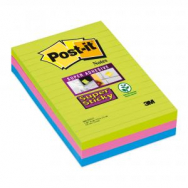 Bloček  Post-it Super Sticky 102x152 linajkový mix farieb - MM066020