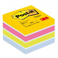 Bloček kocka Post-it 51x51 mini mix farieb - MM205130