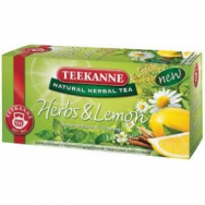 Čaj TEEKANNE bylinný Herbs and lemon 40g - PT604521