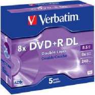 Verbatim DVD+R 8x DL 8,5GB - VE004499