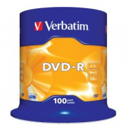 Verbatim DVD-R 16x 4,7GB cake 100 ks - VE435490