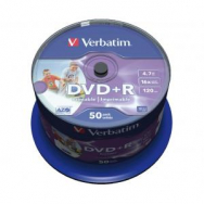 Verbatim DVD+R 16x 4,7GB cake 50 ks - VE435500
