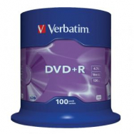 Verbatim DVD+R 16x 4,7GB cake 100 ks - VE435510