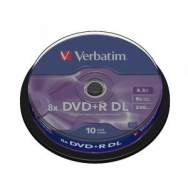Verbatim DVD+R 8x DL 8,5GB cake 10 ks - VE436660